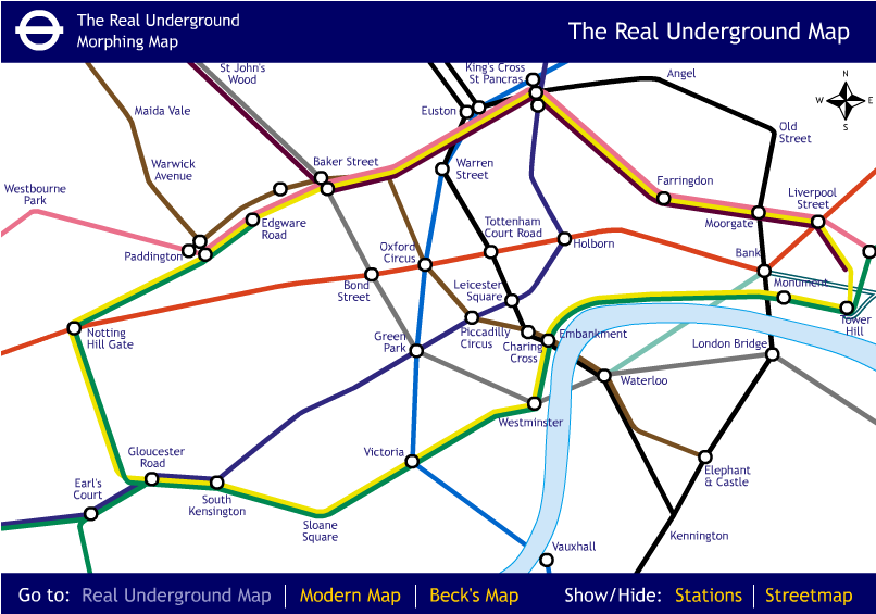 Real underground map