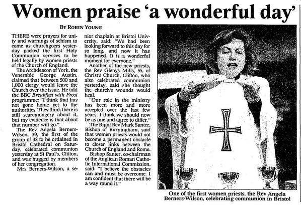First Women Priests 1994