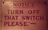 Turn off the switch